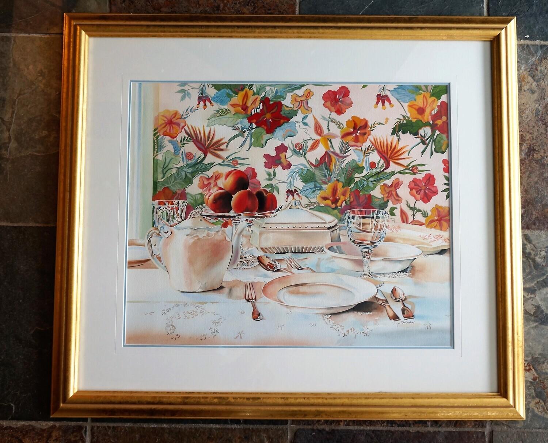 Still Life Watercolour, by John Zacharias