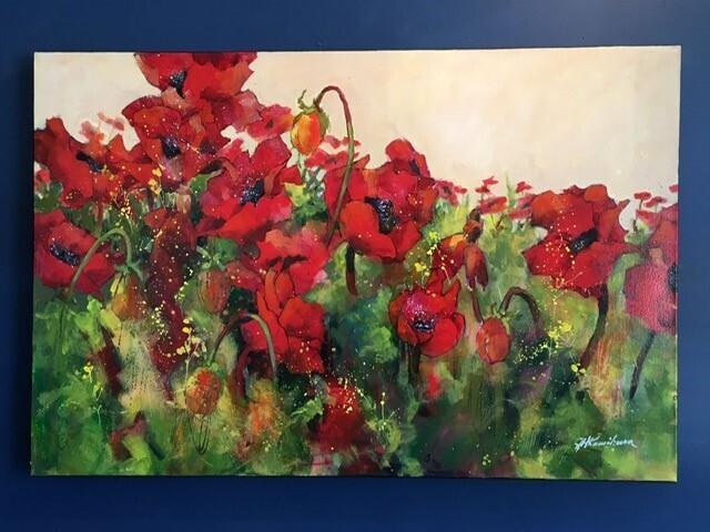 Dashing Poppies, by Joyce Kamikura
