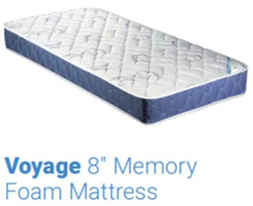 "Truck Mattress - Voyage 8"" Memory Foam - 8"" × 42"" × 80"""