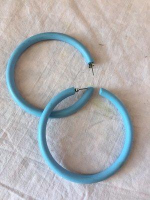 Matte Blue Hoops