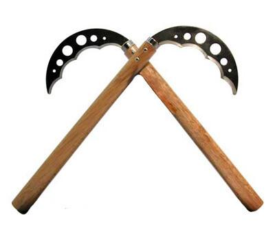 Kama, Steel Blade, Unsharpened w/ Serrations