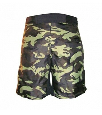 MMA Shorts, Wood Camo