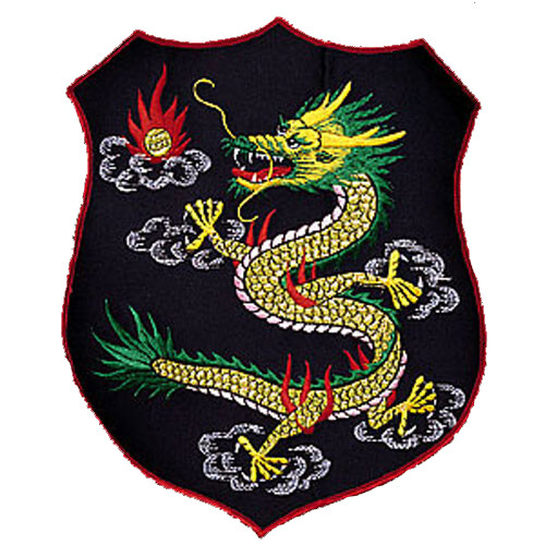 Patch, Animal, Dragon, Shield