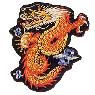 Patch, Animal, Dragon, Gold