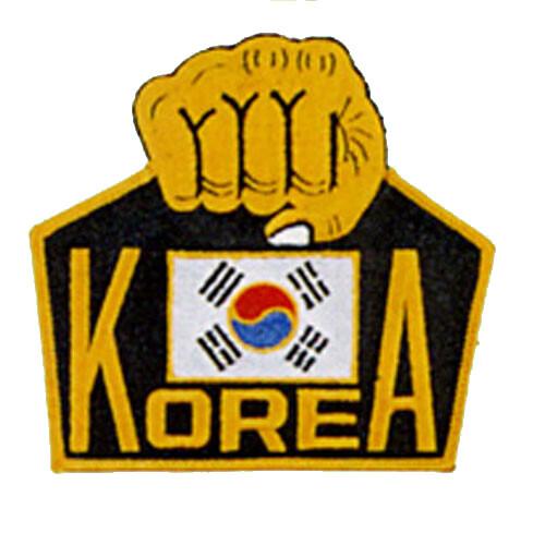 Patch, Logo, KOREA w/ Fist