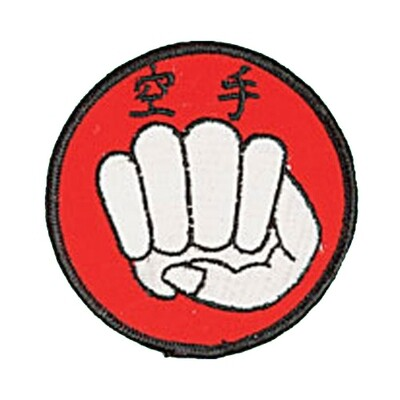 Patch, Logo, Karate in Circle