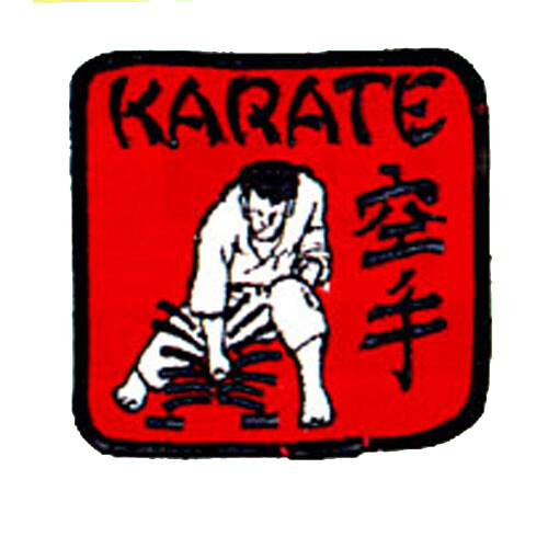 Patch, Logo, Karate in Square