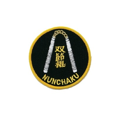 Patch, Logo, Nunchaku, 3