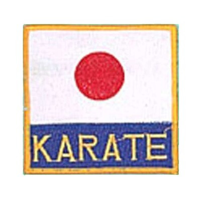 Patch, Flag, Japan w/ KARATE