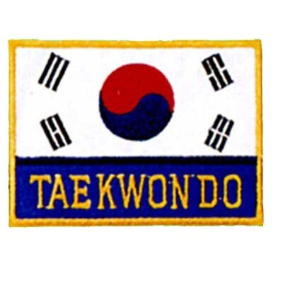 Patch, Flag, Korea w/ Taekwondo