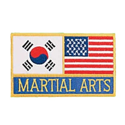 Patch, Flag, USA & Korea
