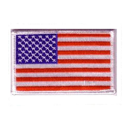 Patch, Flag, USA, White Trim