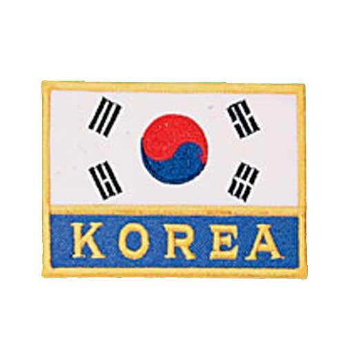 Patch, Flag, Korea w/ KOREA