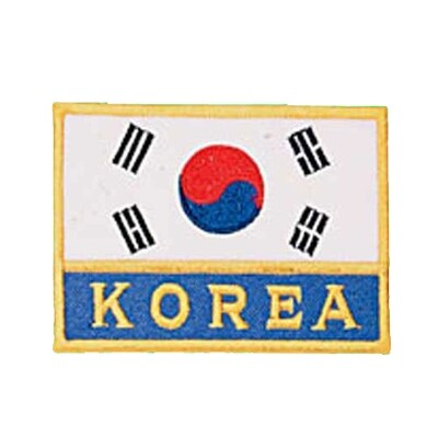 Patch, Flag, Korea w/ KOREA