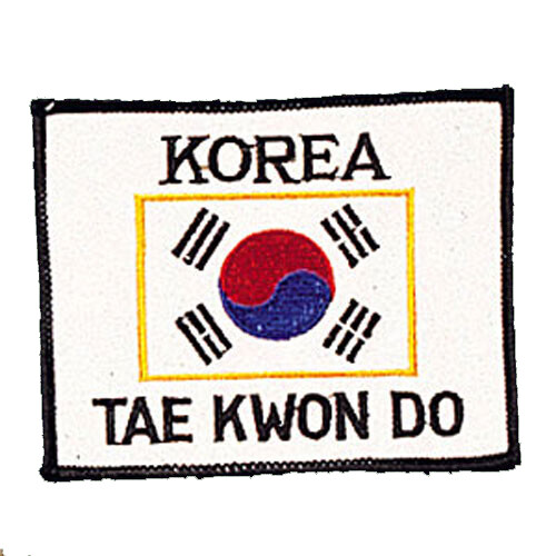 Patch, Flag, Korea w/ KOREA & TAEKWONDO