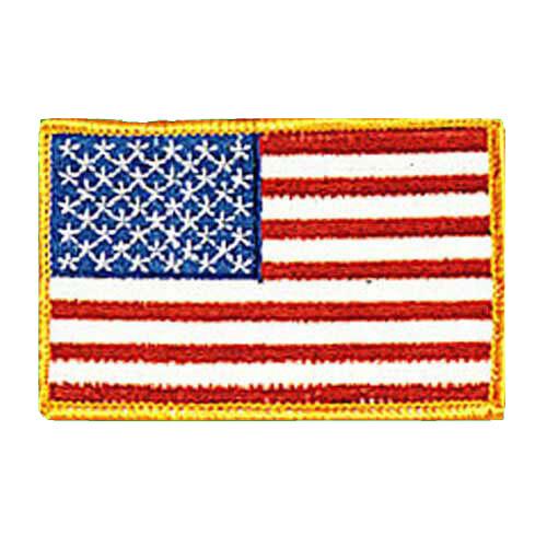 Patch, Flag, USA, Gold Trim
