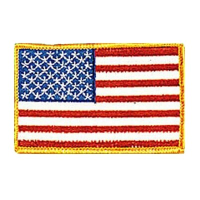 Patch, Flag, USA, Gold Trim