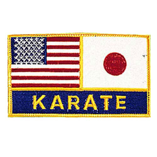 Patch, Flag, USA & Japan w/ Karate