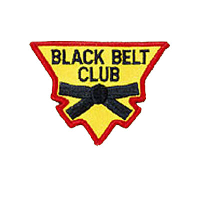 Patch, Team, Triangular, BLACK BELT CLUB