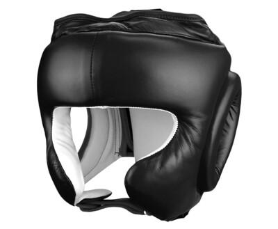 Head Gear, Leather, Open Chin, Black