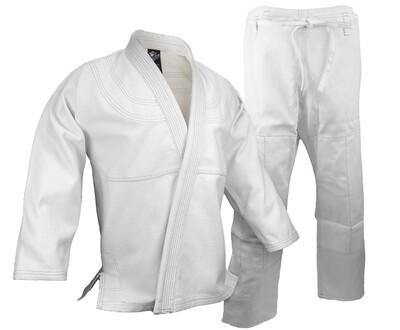 BJJ Gi, Single Weave, White
