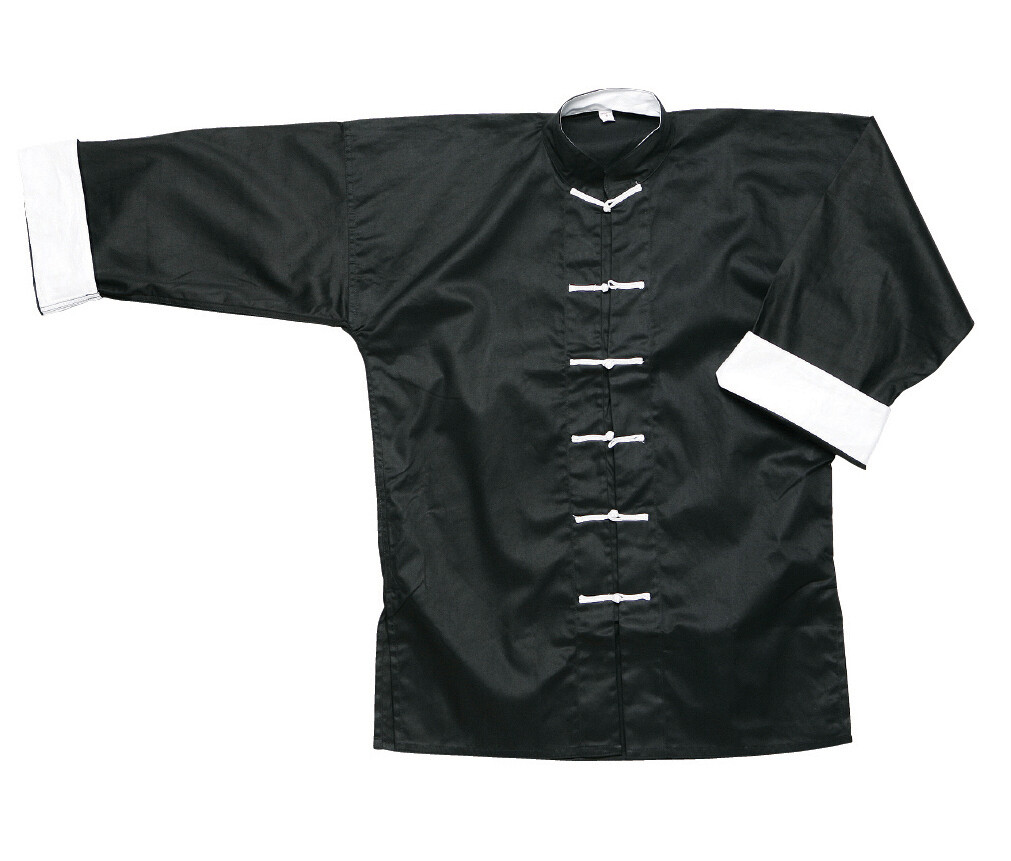 Kung Fu Jacket, Black w/ White