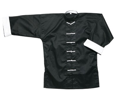 Kung Fu Jacket, Black w/ White