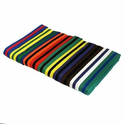 Single Striped Belts, Color W/ Colored Stripe