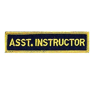 Patch, Achievement, Asst. Instructor