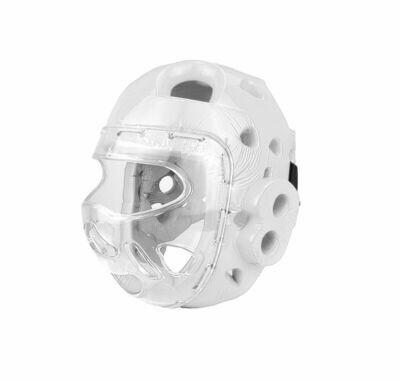 Head Gear, Foam, w/Full Face Clear Shield, White