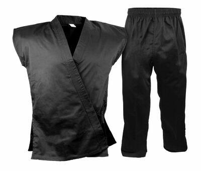 Karate Uniform, Sleeveless, Black