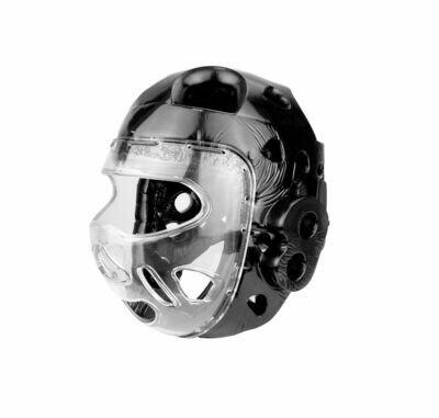 Head Gear, Foam, w/Full Face Clear Shield, Black