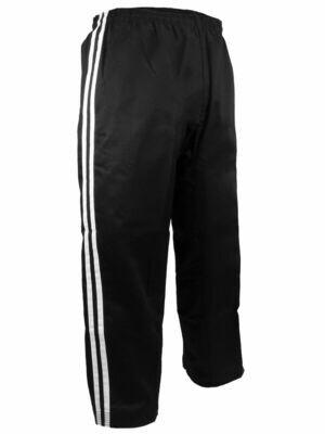 Team - Pants, Black, 2 White Stripes