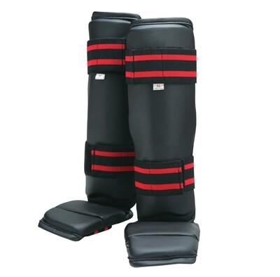 Shin and Instep Guard, Vinyl, Black