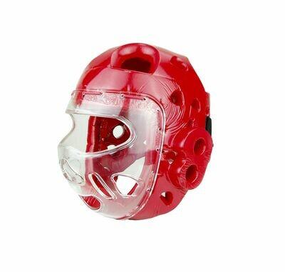 Head Gear, Foam, w/Full Face Clear Shield, Red