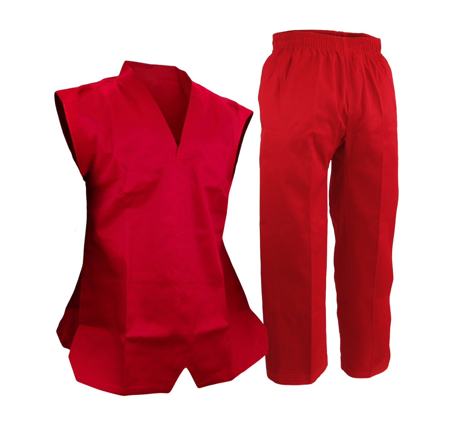 Taekwondo Uniform, Sleeveless, Red