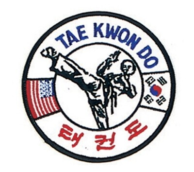 Patch- Logo, USA+TAEKWONDO