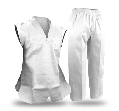 Taekwondo Uniform, Sleeveless, White