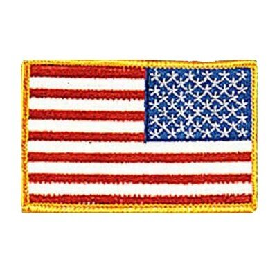 Patch, Flag, USA, Gold Trim, Military