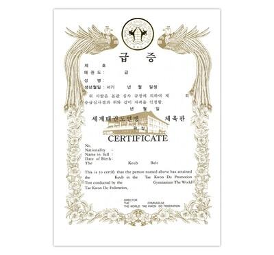 Rank Certificate (TKD) 1