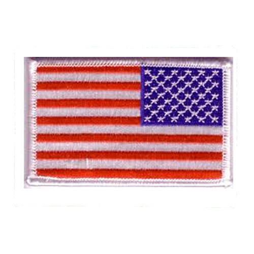 Patch, Flag, USA, White Trim, Military