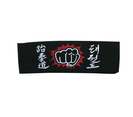 Head Band, Dragon, TKD Fist, Black