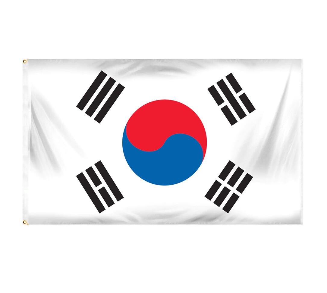 Flag South Korea, without Tassel
