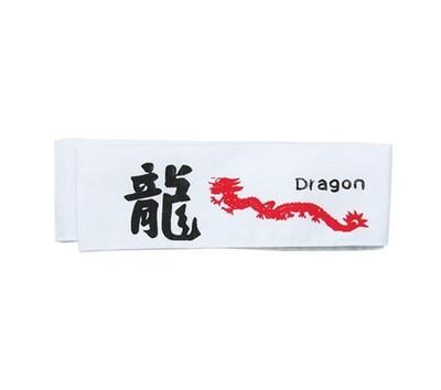 Head Band, Dragon, White