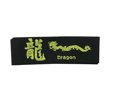 Head Band, Dragon, Black