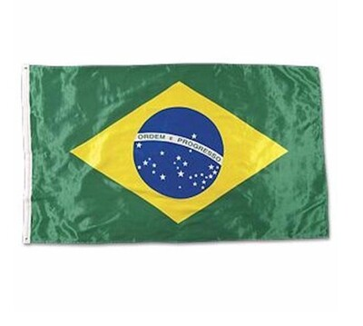 Flag Brazil, without Tassel