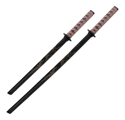 Sword- Wood Daito, Dragon Engraved, BR Wrap