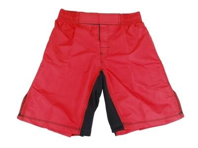 MMA Shorts,  Elastic Waist, Red