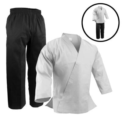 Team Set, Karate Jacket WH/Pants BK