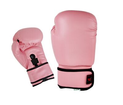Boxing Gloves, Leather, Training, Pink